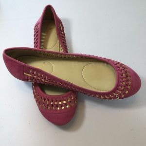 Enzo Angliolini Clarendy Pink & Gold Flats 8